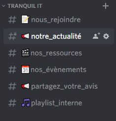 Overview of Discord rooms in the category Tranquil IT