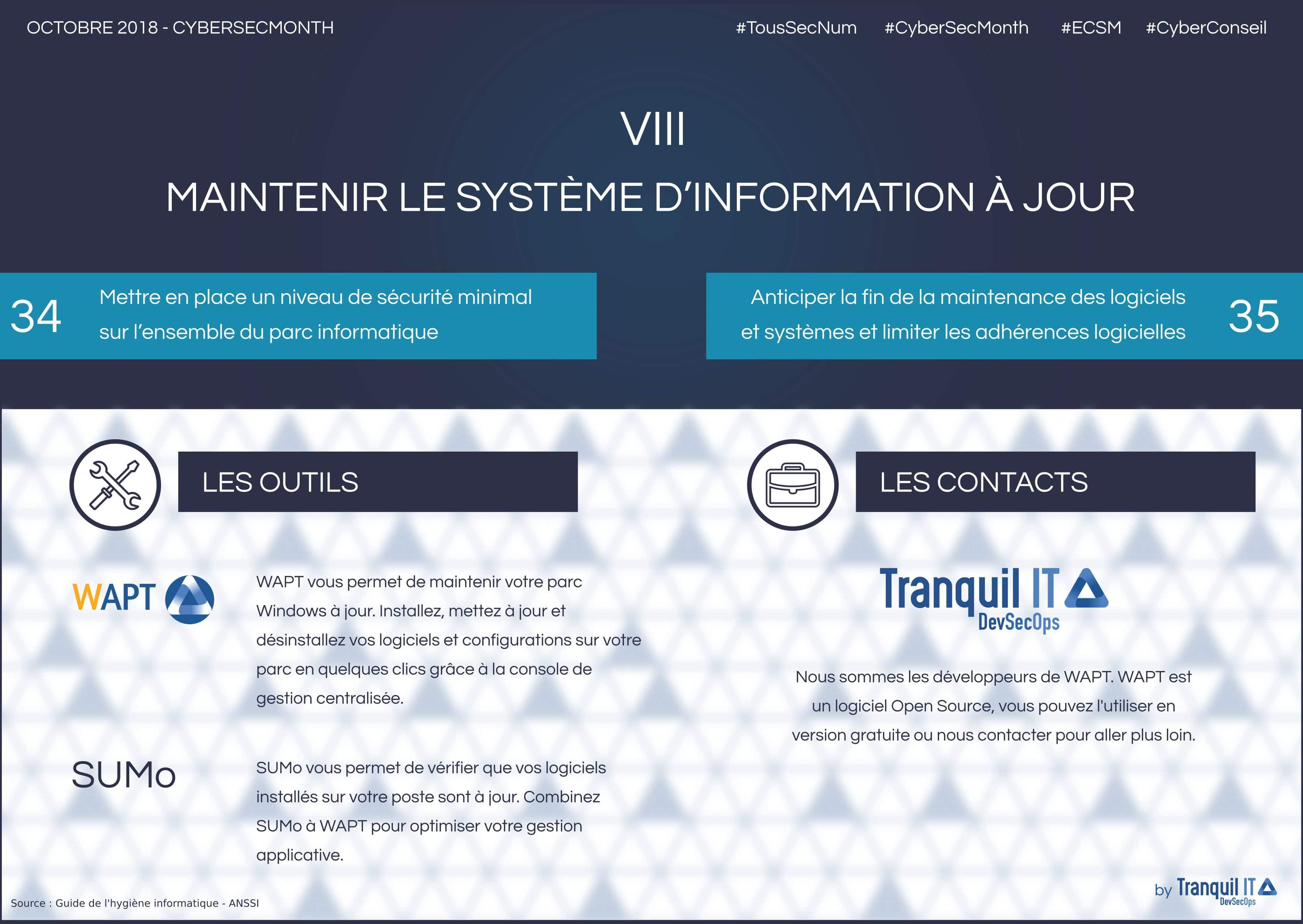 """Infographie """"Maintenir le système d'information à jour"""""""