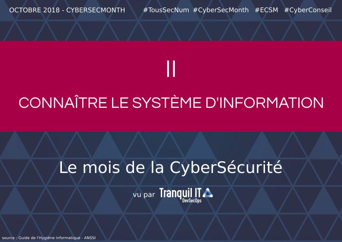 Connaître le système d'information #CyberSecMonth