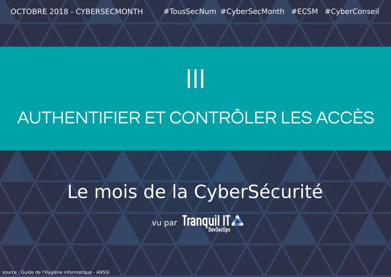 Authentifier et contrôler les accès #CyberSecMonth