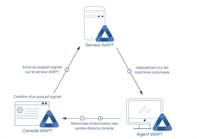 Schéma de fonctionnement de l'agent WAPT