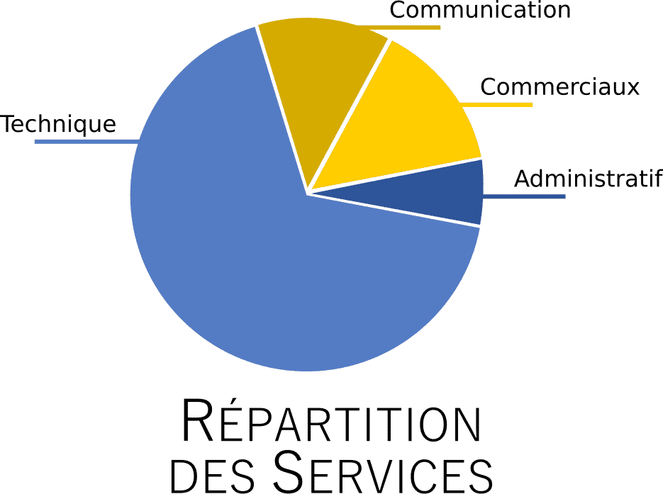 Pictogram of service distribution