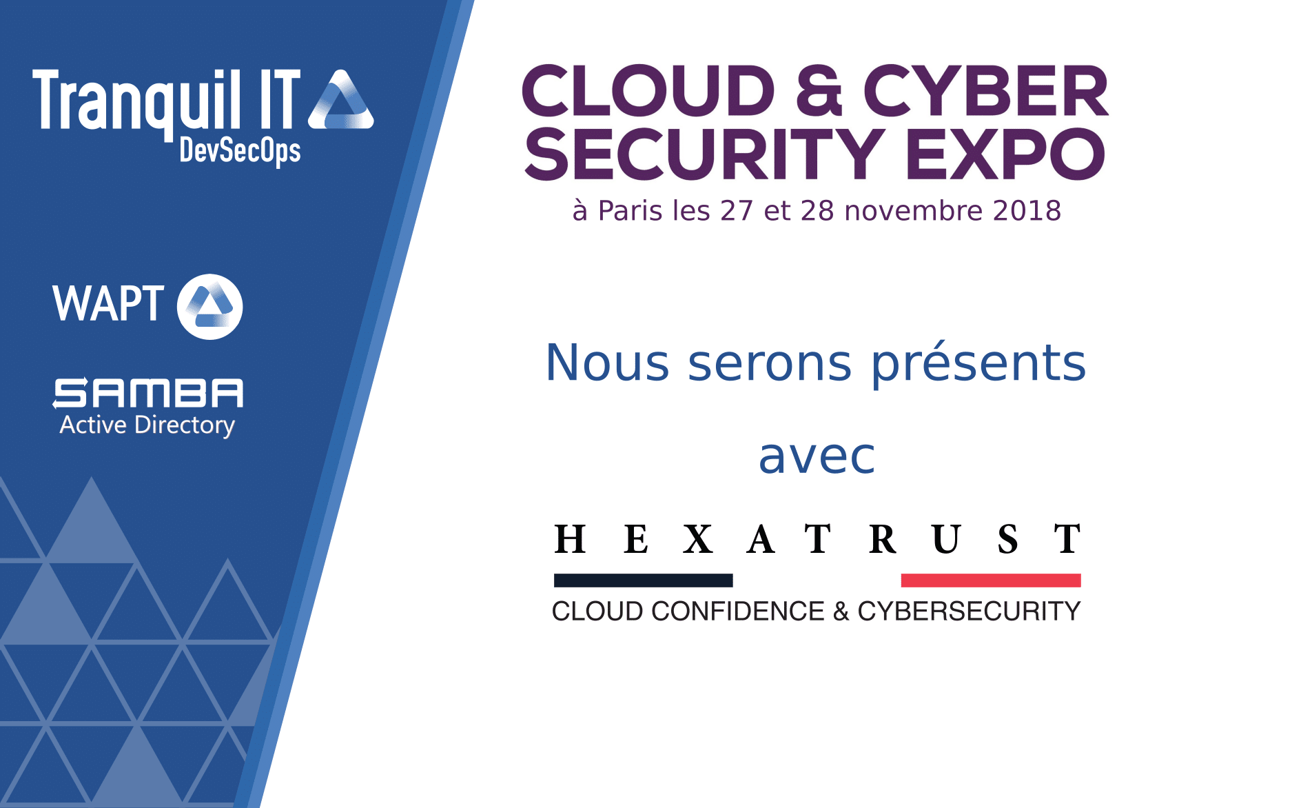 Tranquil IT présent au cloud and cyber security expo