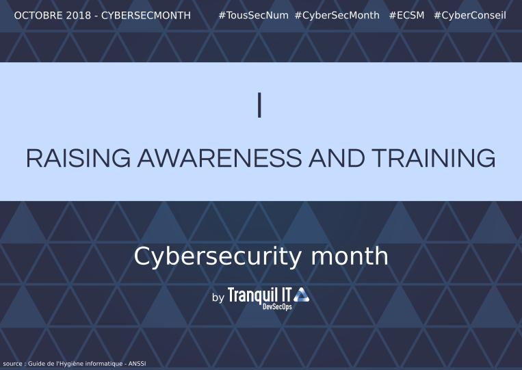 Raising Awarness and training #CyberSecMonth