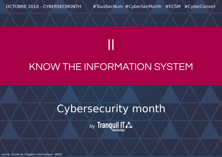 Know the information system #CyberSecMonth