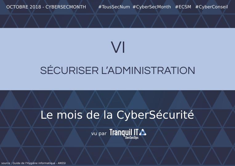 Sécuriser l'administration #CyberSecMonth
